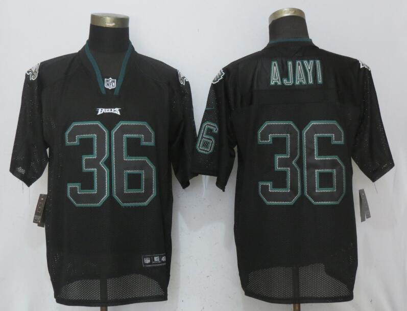 Nike Eagles 36 Jay Ajayi Black Lights Out Elite Jersey