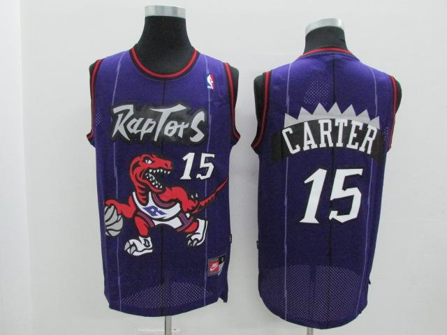 Raptors 15 Vince Carter Purple Hardwood Classics Jersey