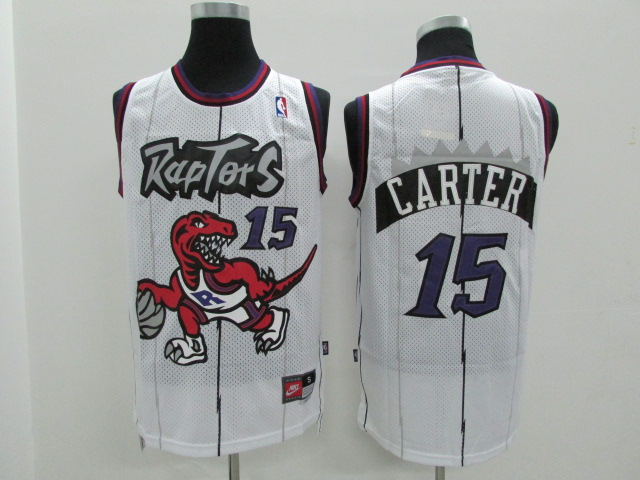 Raptors 15 Vince Carter White Hardwood Classics Jersey