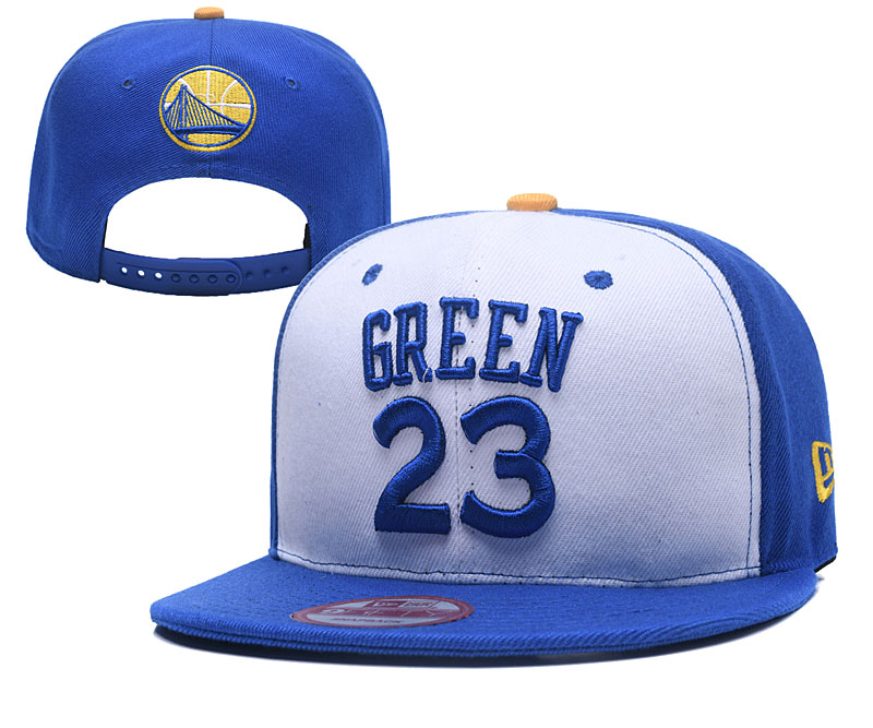 Warriors 23 Draymond Green White Name & Number Adjustable Hat YD