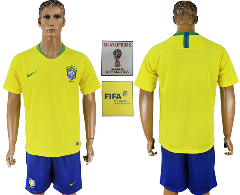 Brazil Home 2018 FIFA World Cup Soccer Jersey