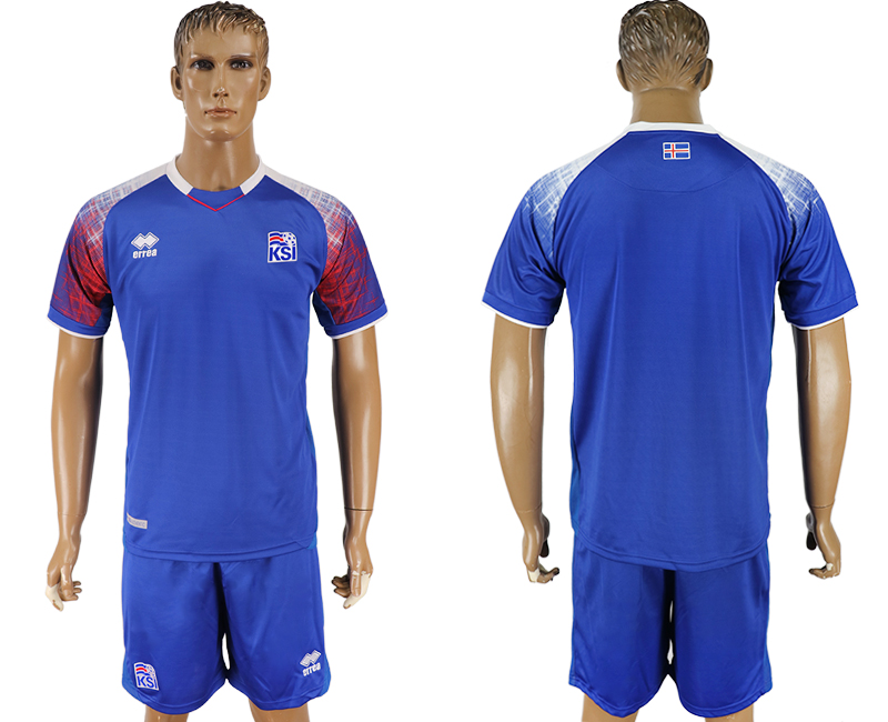 Iceland Home 2018 FIFA World Cup Soccer Jersey