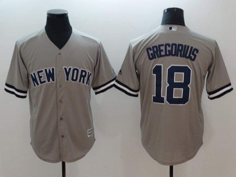 Yankees 18 Didi Gregorius Gray Cool Base Jersey