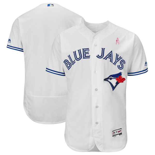 Blue Jays Blank White 2018 Mother's Day Flexbase Jersey