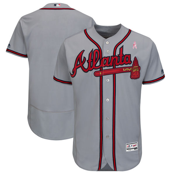 Braves Blank Gray 2018 Mother's Day Flexbase Jersey