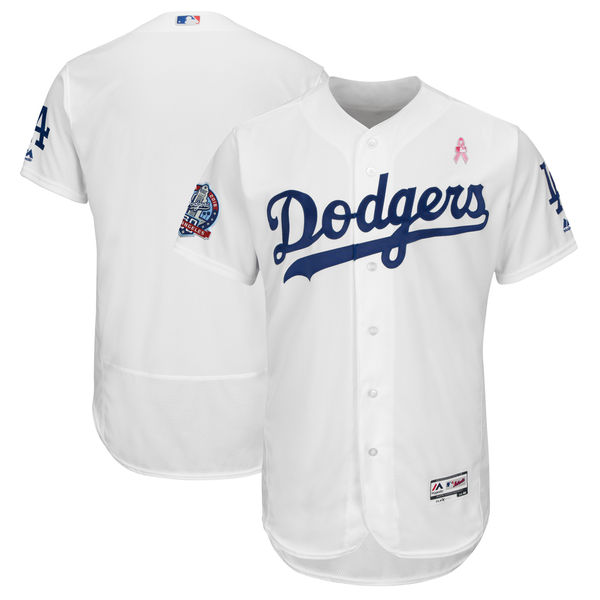 Dodgers Blank White 2018 Mother's Day Flexbase Jersey