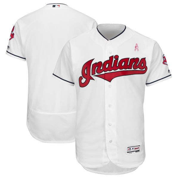 Indians Blank White 2018 Mother's Day Flexbase Jersey