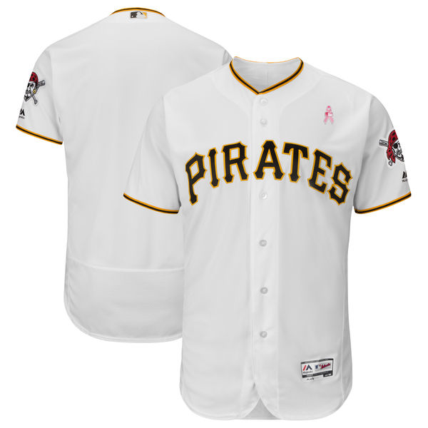 Pirates Blank White 2018 Mother's Day Flexbase Jersey