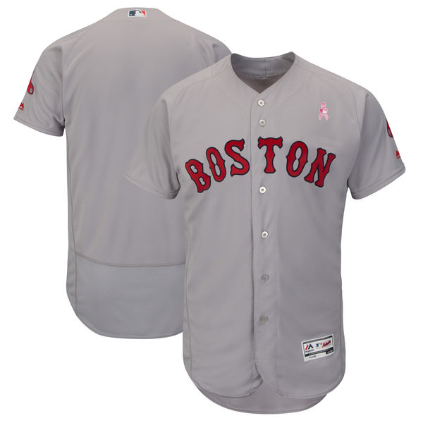 Red Sox Blank Gray 2018 Mother's Day Flexbase Jersey