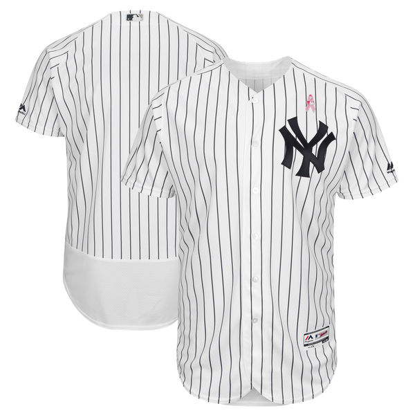 Yankees Blank White 2018 Mother's Day Flexbase Jersey