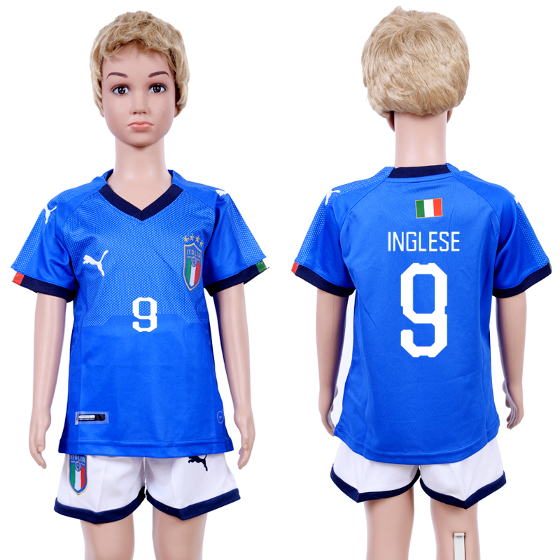 2018-19 Italy 9 INGLESE Home Youth Soccer Jersey