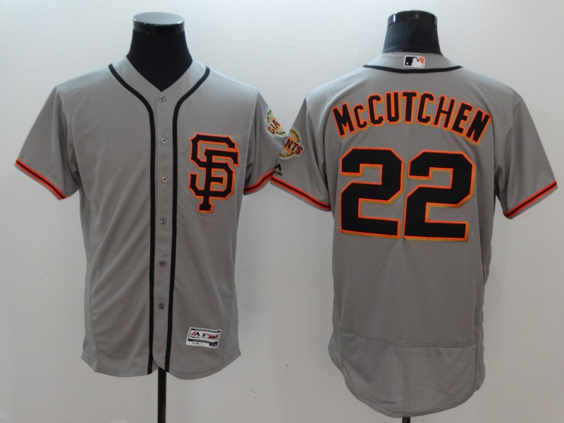 Giants 22 Andrew McCutchen Gray Flexbase Jersey