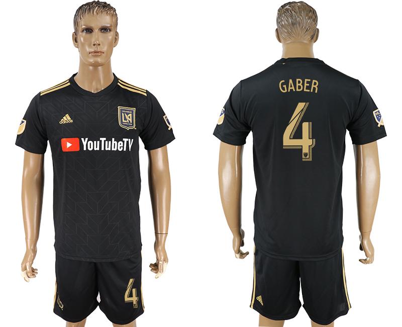 2018-19 Los Angeles FC 4 GABER Home Soccer Jersey