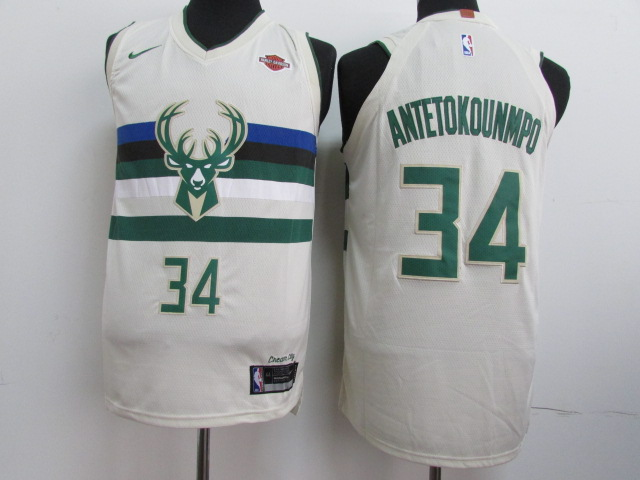 Bucks 34 Giannis Antetokounmpo Cream City Edition Nike Authentic Jersey