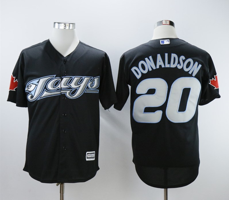 Blue Jays 20 Josh Donaldson Black 2008 Turn Back The Clock Jersey