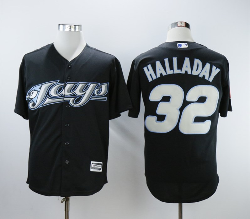 Blue Jays 32 Roy Halladay Black 2008 Turn Back The Clock Jersey