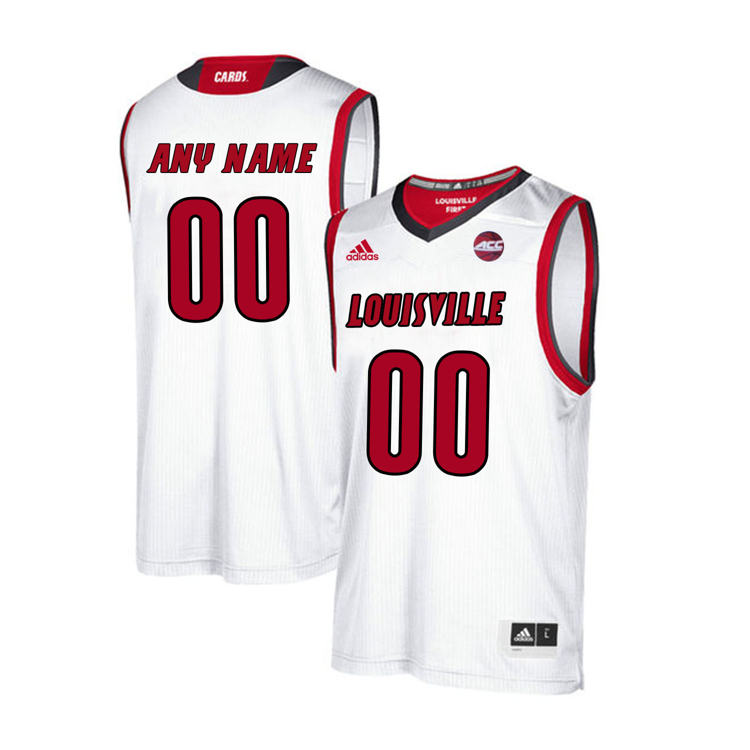 Louisville Cardinals Customized White College Basketball Jersey