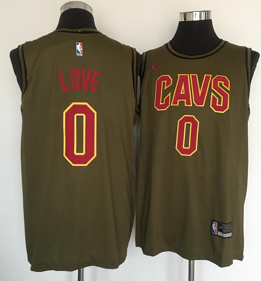 Cavaliers 0 Kevin Love Olive Nike Swingman Jersey