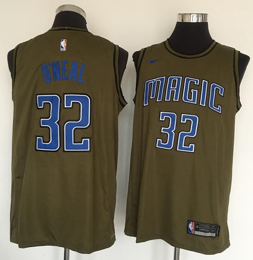 Magic 32 Shaquille O'Neal Olive Nike Swingman Jersey