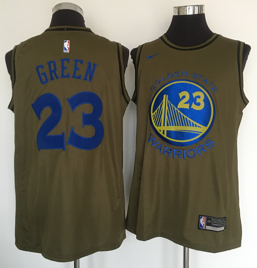 Warriors 23 Draymond Green Olive Nike Swingman Jersey