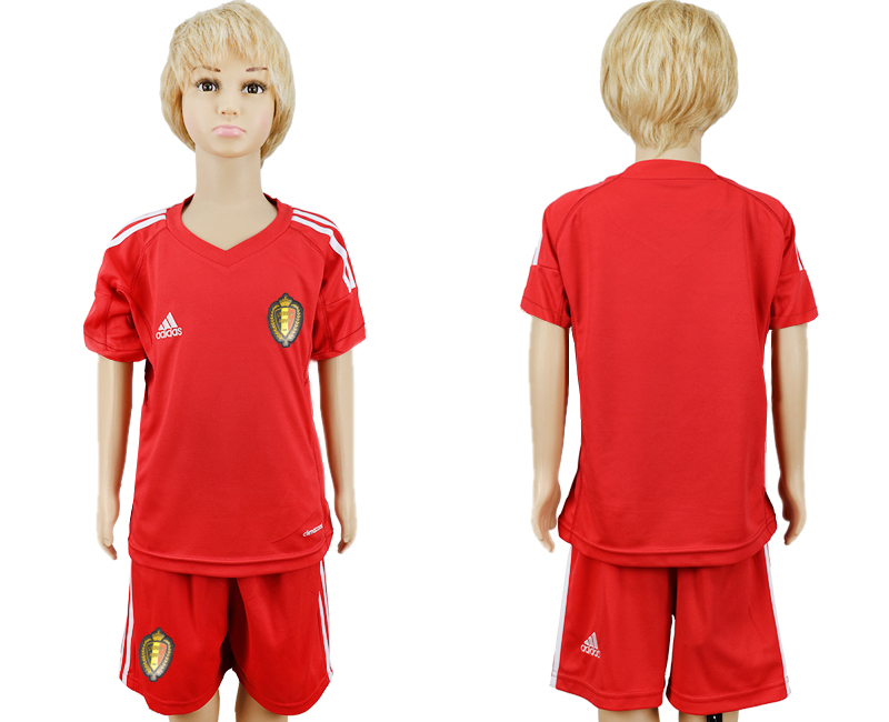 Belgium Red Goalkeeper Youth 2018 FIFA World Cup Soccer Jersey
