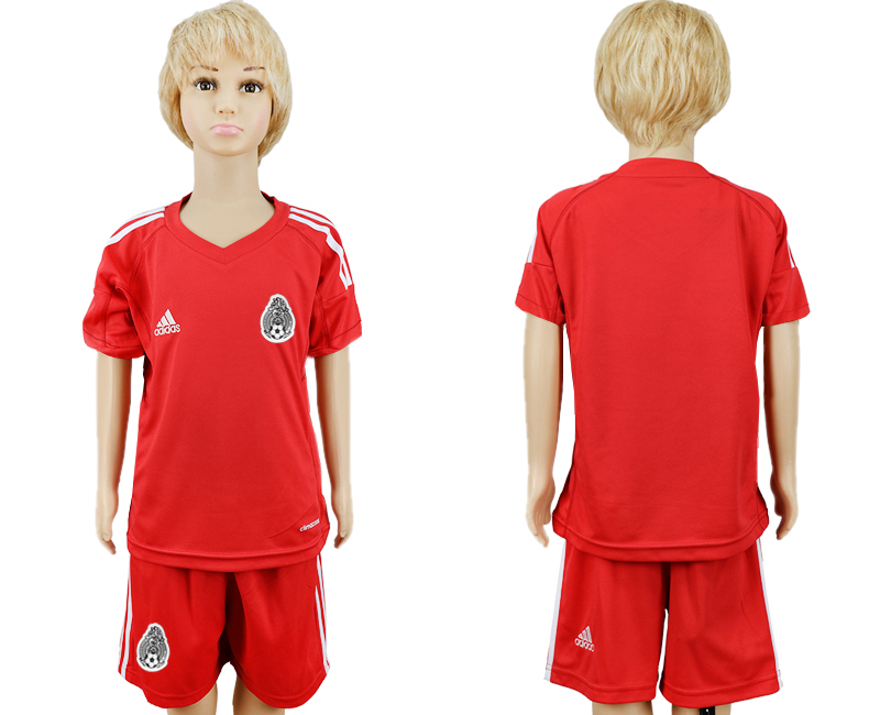 Mexico Red Goalkeeper Youth 2018 FIFA World Cup Soccer Jersey