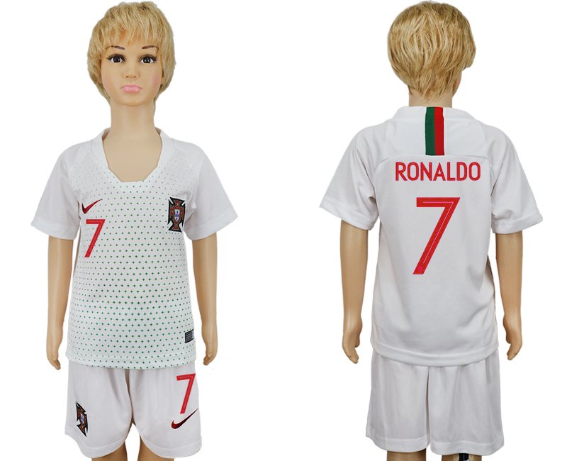 Portugal 7 RONALDO Away Youth 2018 FIFA World Cup Soccer Jersey