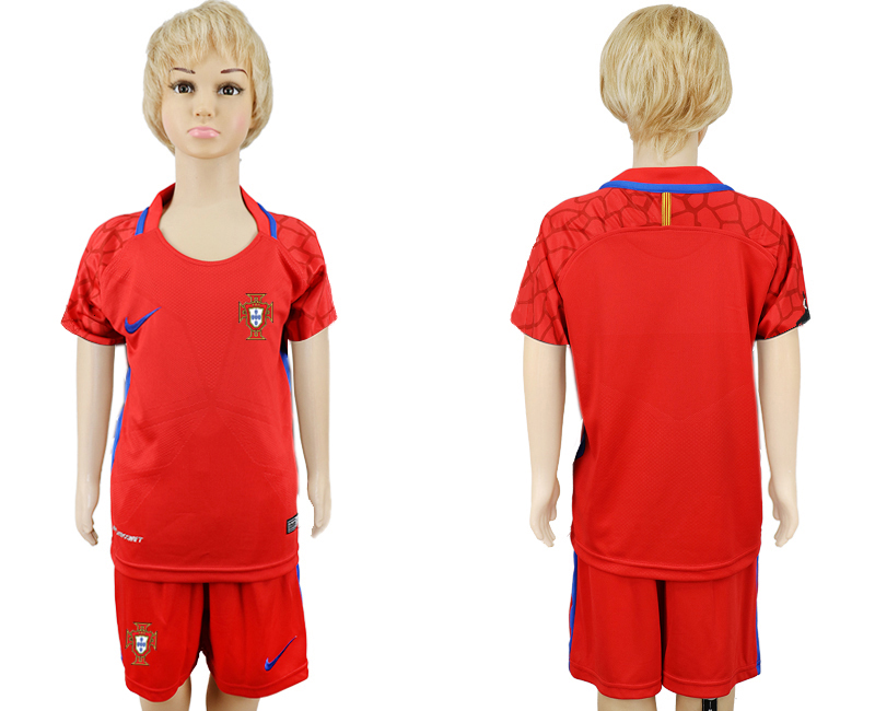 Portugal Red Goalkeeper Youth 2018 FIFA World Cup Soccer Jersey
