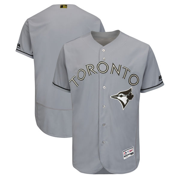 Blue Jays Blank Gray 2018 Memorial Day Flexbase Jersey