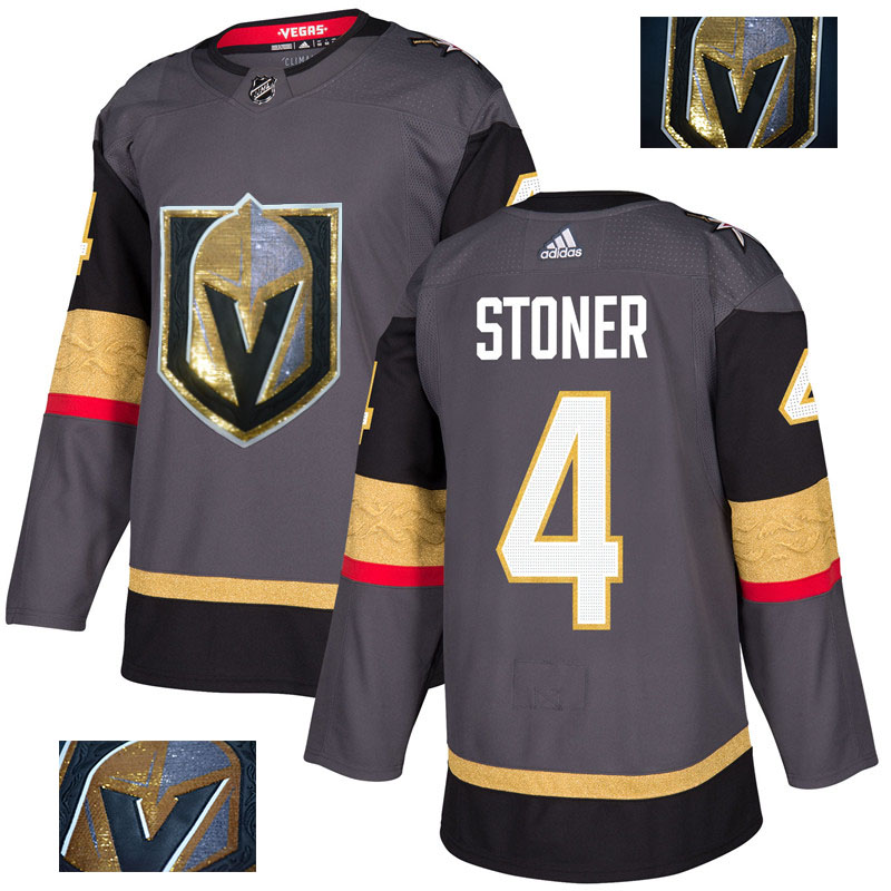 Vegas Golden Knights 4 Clayton Stoner Gray With Special Glittery Logo Adidas Jersey