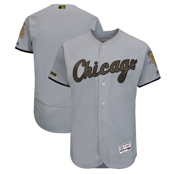 White Sox Blank Gray 2018 Memorial Day Flexbase Jersey