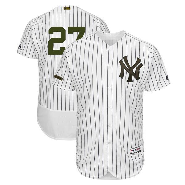 Yankees 27 Giancarlo Stanton White 2018 Memorial Day Flexbase Jersey