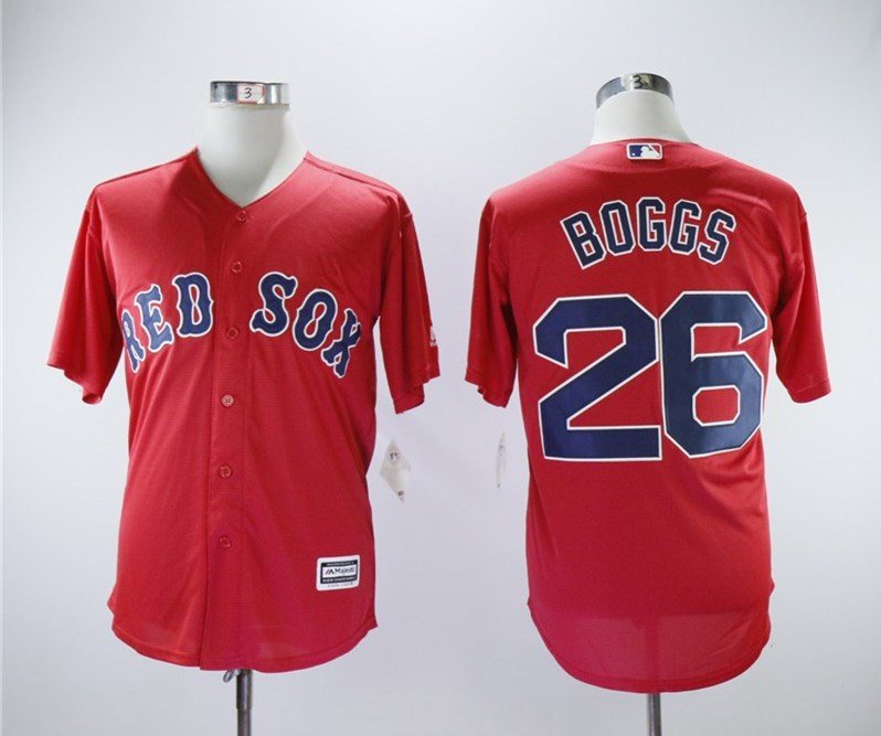 Red Sox 26 Wade Boggs Red Cool Base Jersey