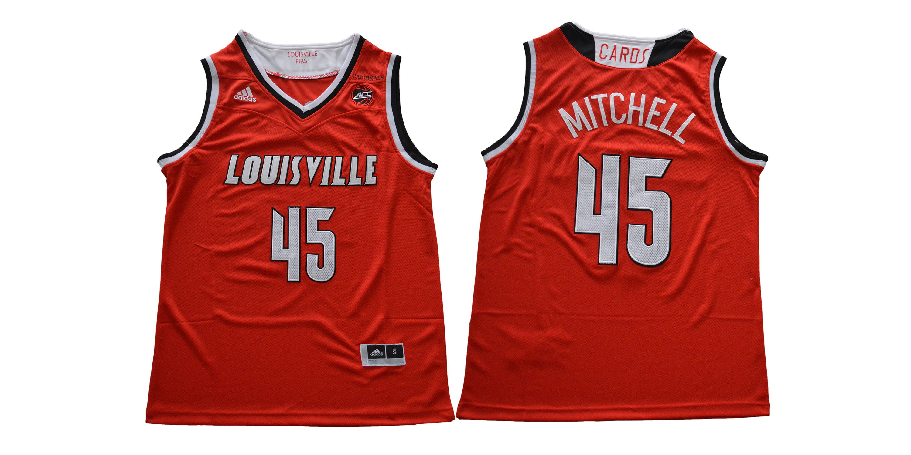 Louisville Cardinals 45 Donovan Mitchell Red College Basketball Jersey