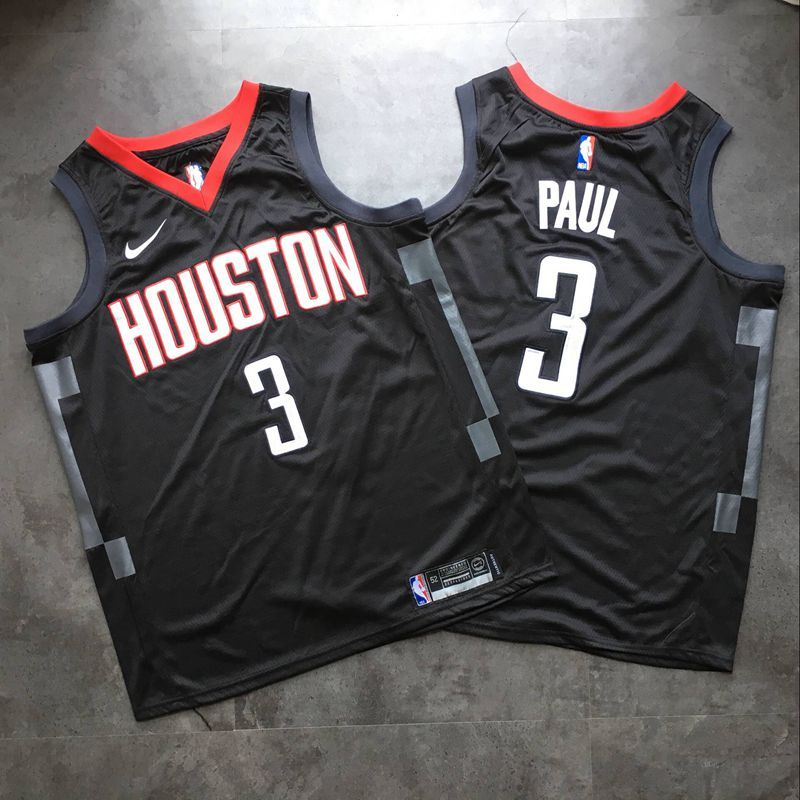 Rockets 3 Chris Paul Black Nike Swingman Jersey