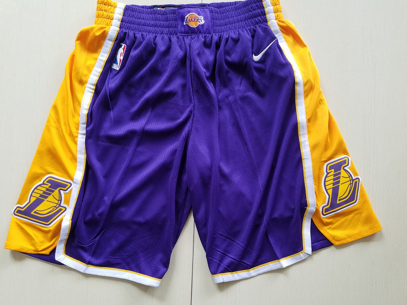Lakers Purple Statement Nike Swingman Shorts