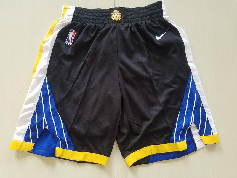 Warriors Black Nike Swingman Shorts