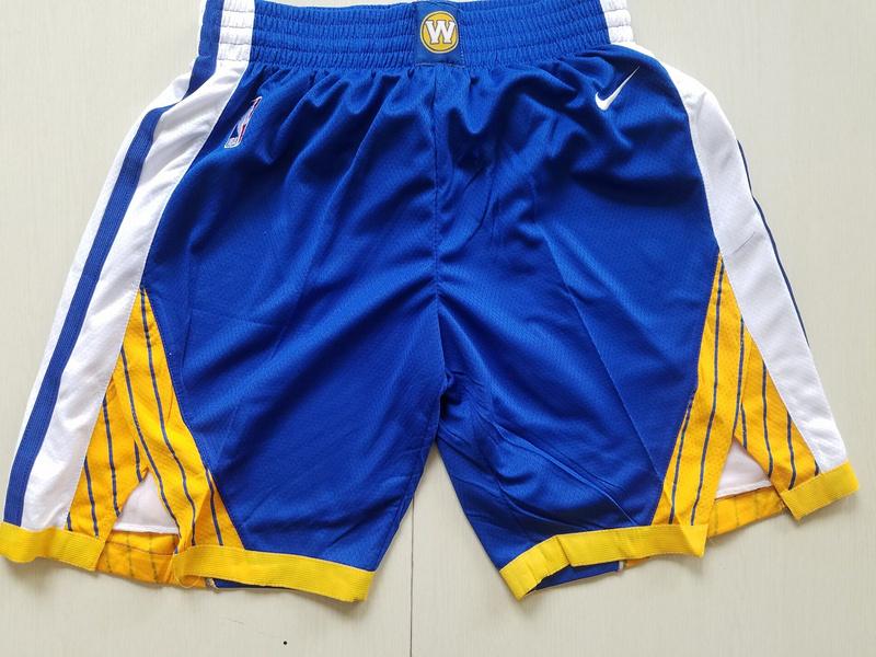 Warriors Blue Nike Swingman Shorts