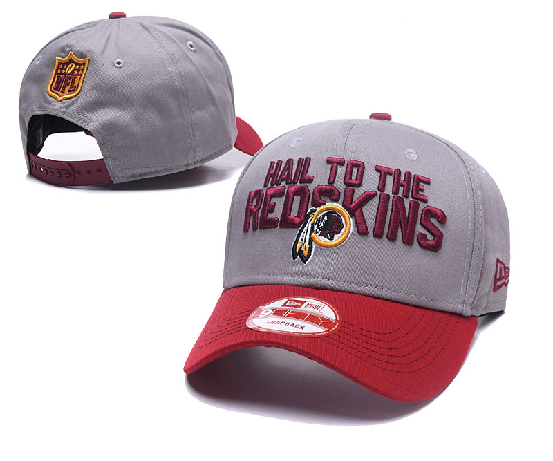 Redskins Hail To The Redskins Gray Peaked Adjustable Hat GS