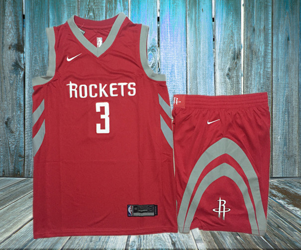 Rockets 3 Chris Paul Red Nike Swingman Jersey(With Shorts)