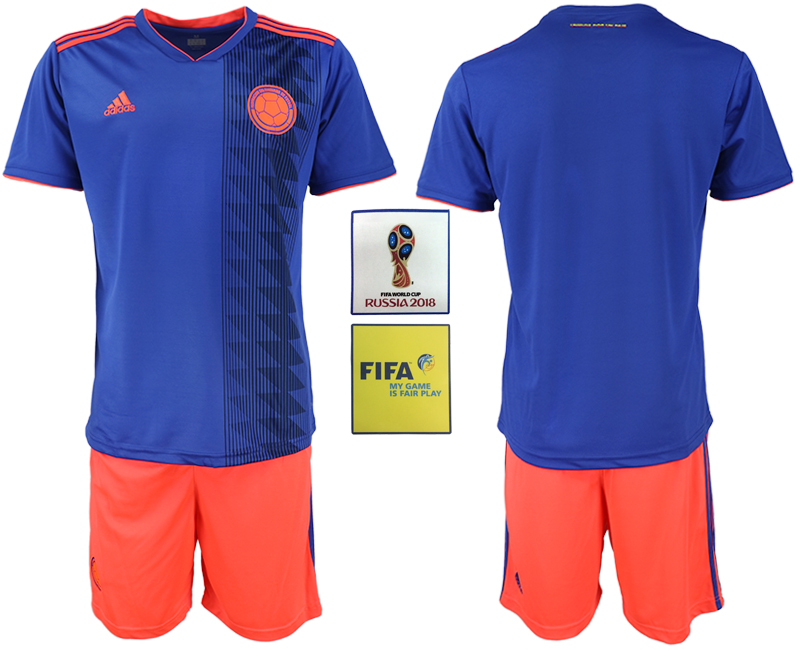 Colombia Away 2018 FIFA World Cup Soccer Jersey