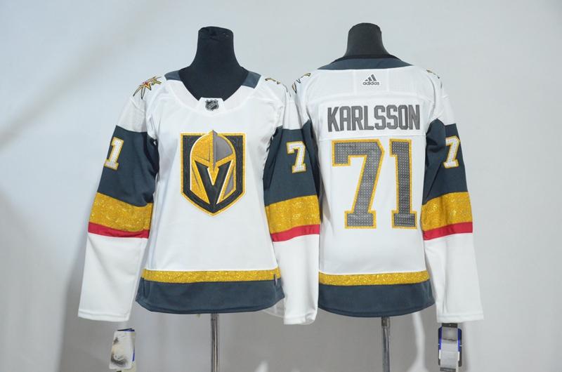 Vegas Golden Knights 71 William Karlsson White Women Adidas Jersey