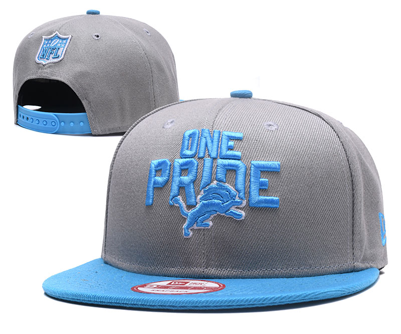 Lions One Pride Gray Adjustable Hat GS