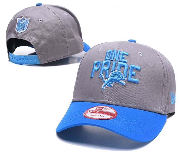 Lions One Pride Gray Peaked Adjustable Hat GS