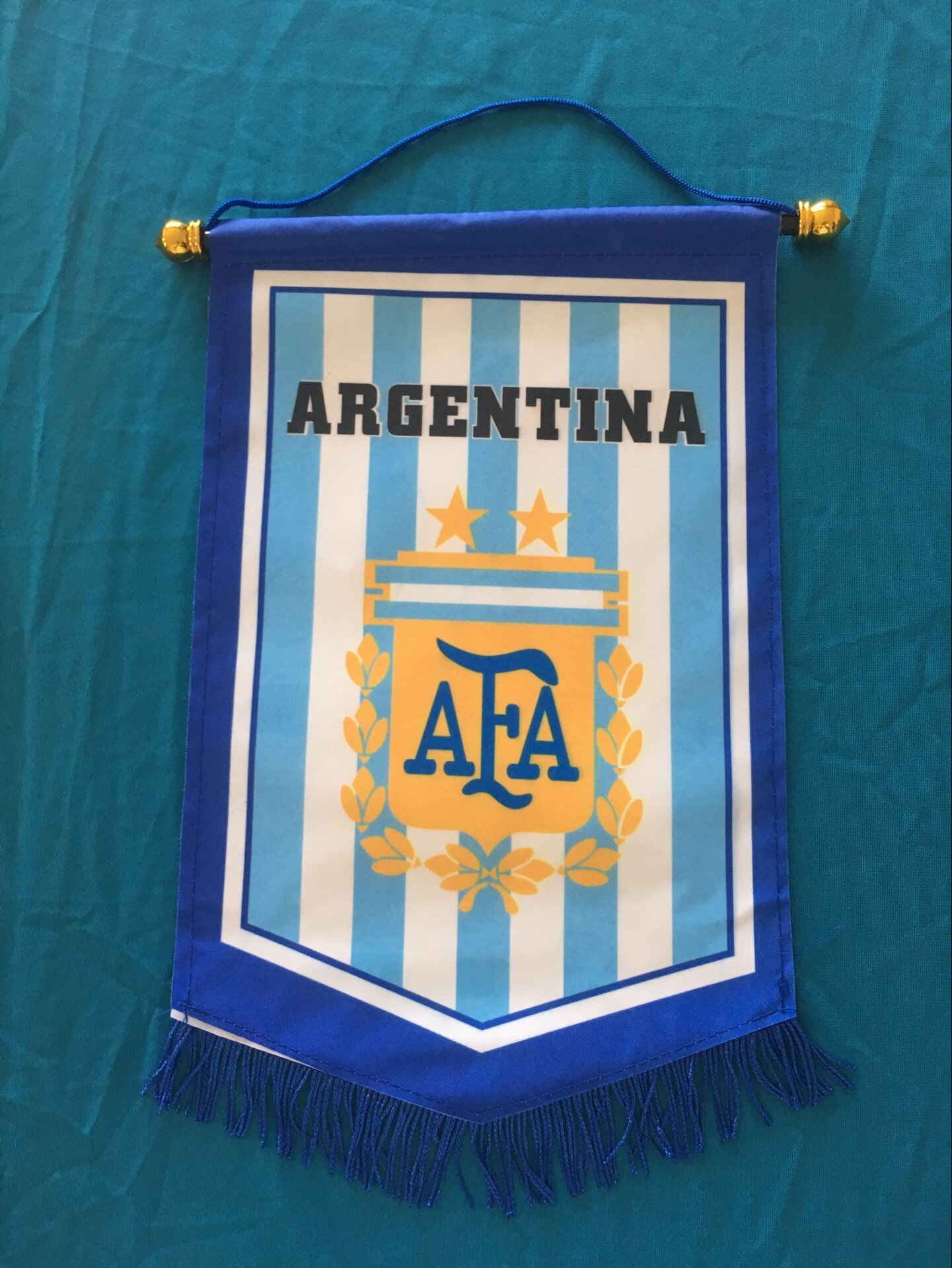 Argentina Hang Flag Decor Football Fans Souvenir