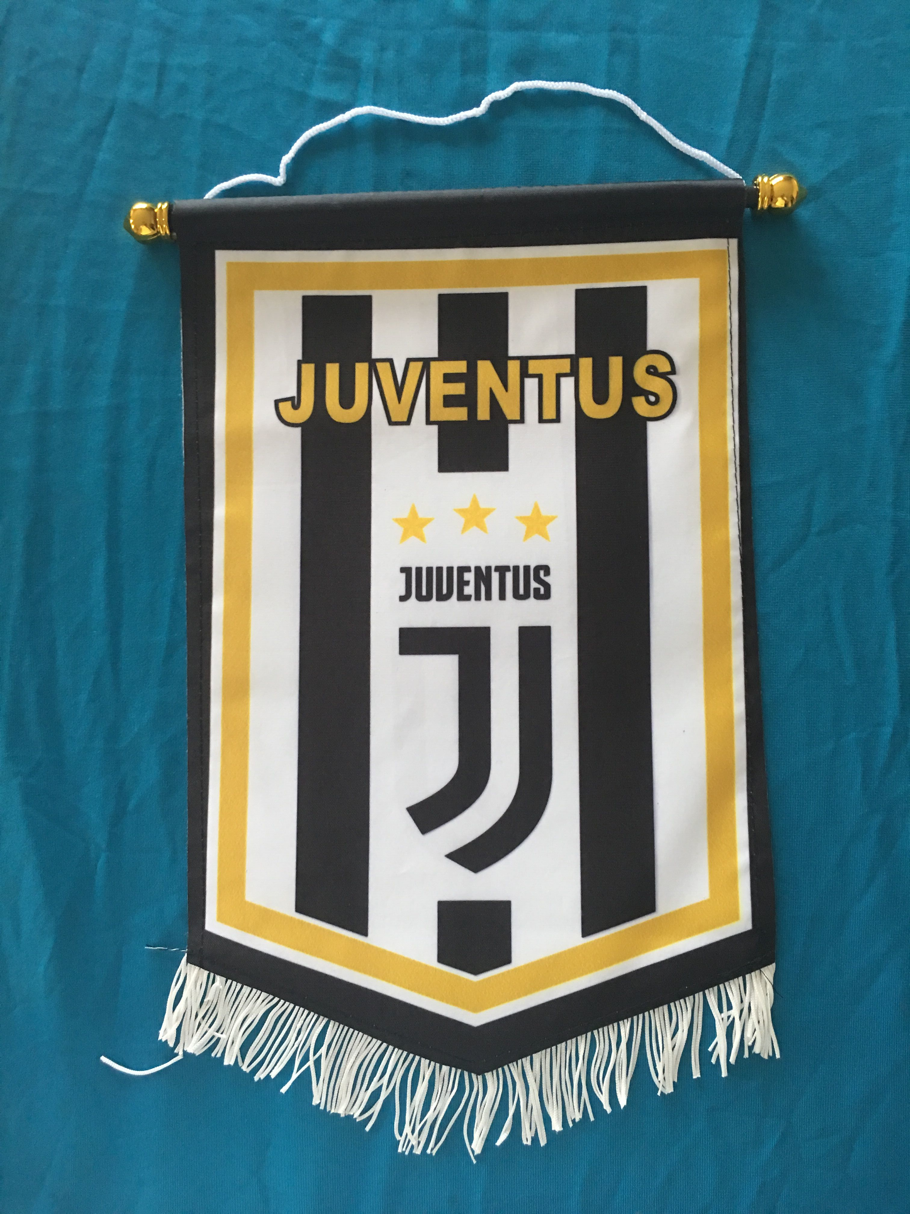 Juventus Hang Flag Decor Football Fans Souvenir