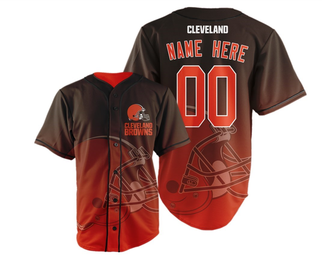 Cleveland Browns Big Logo Print Men's All Stitched Customized Jersey