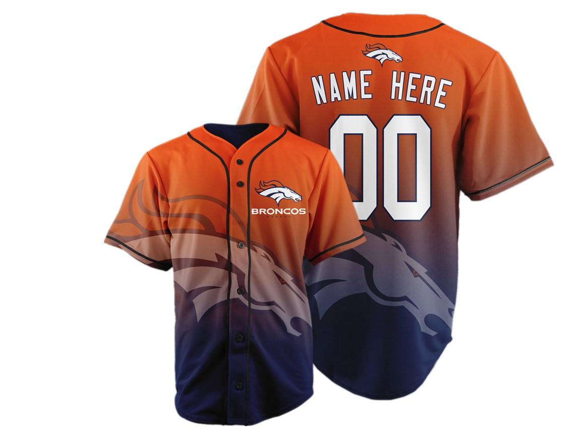 Denver Broncos Big Logo Print Men's All Stitched Customized Jersey