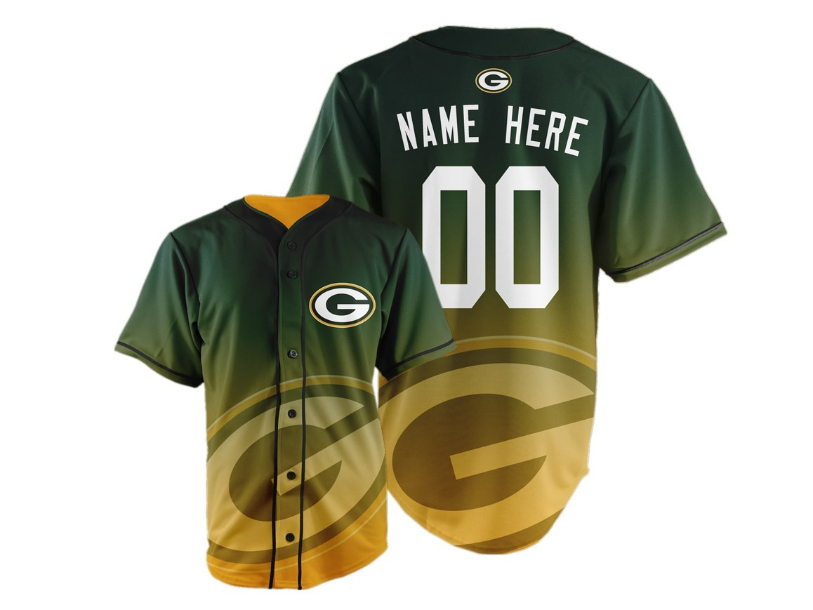 Green Bay Packers Big Logo Print Men's All Stitched Customized Jersey