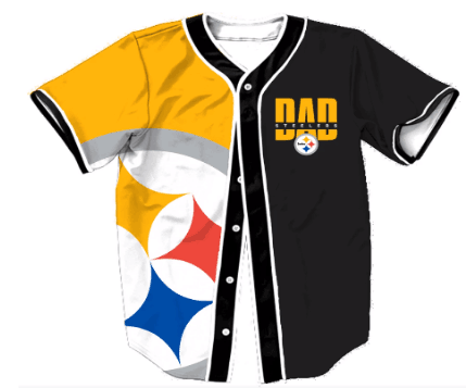 Pittsburgh Steelers Big Logo Print Men's All Stitched Customized Jersey
